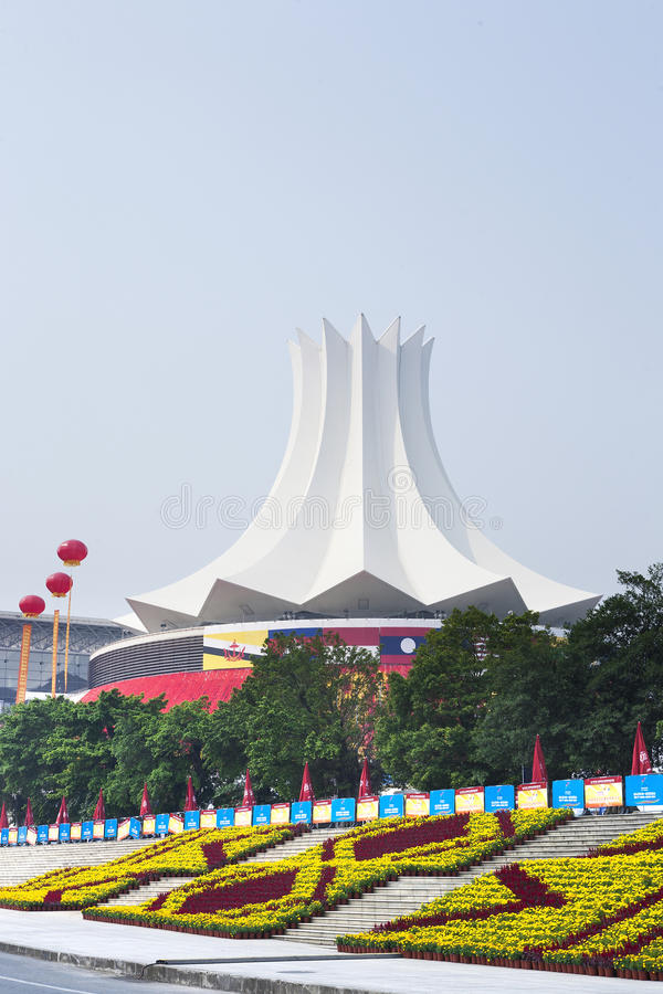 Convention Center,Nanning,China stock photography