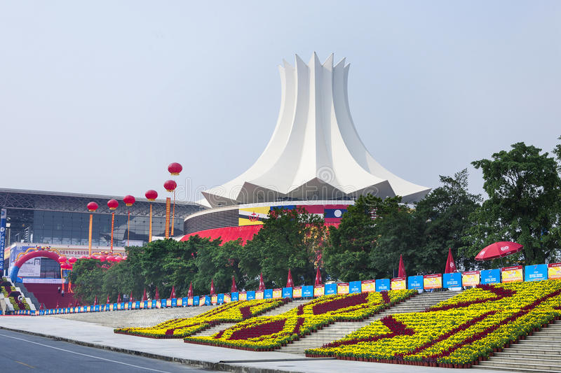 Convention Center,Nanning,China. The exterior of International Convention and Exhibition Center, Nanning, China.Nanning, the capital city of Guangxi is the royalty free stock image