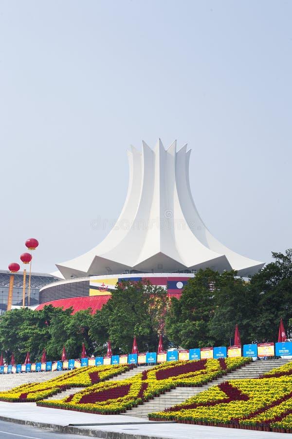 Convention Center Nanning, Kina arkivbild