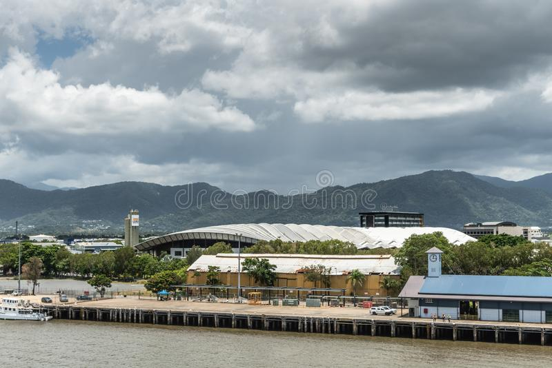 Convention Center roof of Cairns, Australia royalty free stock images