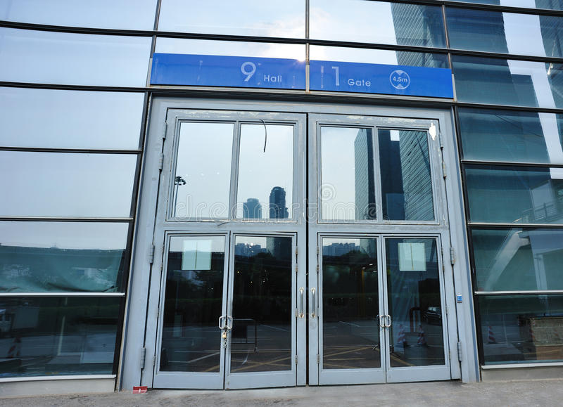 Download Convention And Exhibition Center Gate Stock Photo - Image: 26085458