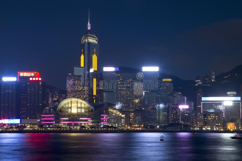 Modern buildings has seen from Victoria Harbor Hongkong stock photos