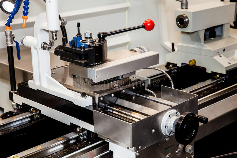 Conventional Precision Lathe with servo drive. Conventional Precision Lathe machine with servo drive - easy to operate, more reliable, more precise, for higher royalty free stock photos