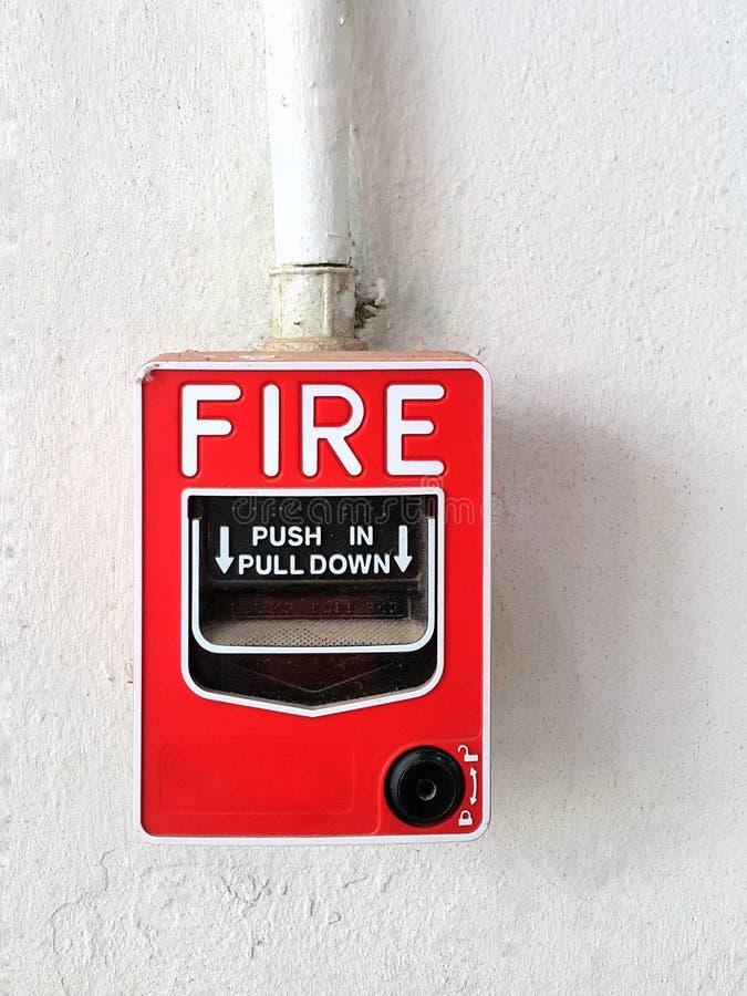 Conventionele het in werking stellen apparaten, de posten van de brandalarmtrekkracht royalty-vrije stock afbeeldingen