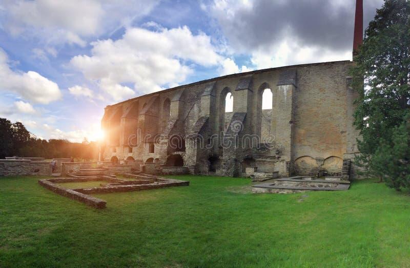 Convento arruinado antigo do St Brigitta 1436 anos na regi?o de Pirita, Tallinn, Est?nia fotografia de stock royalty free