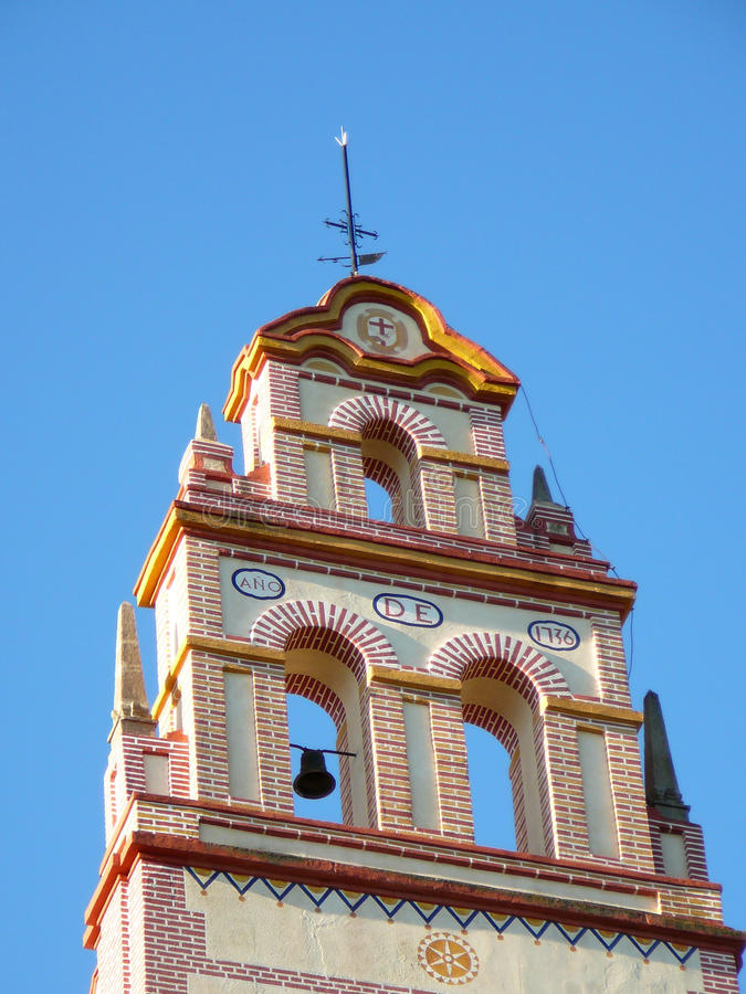Convento Bellfry del Flores immagini stock