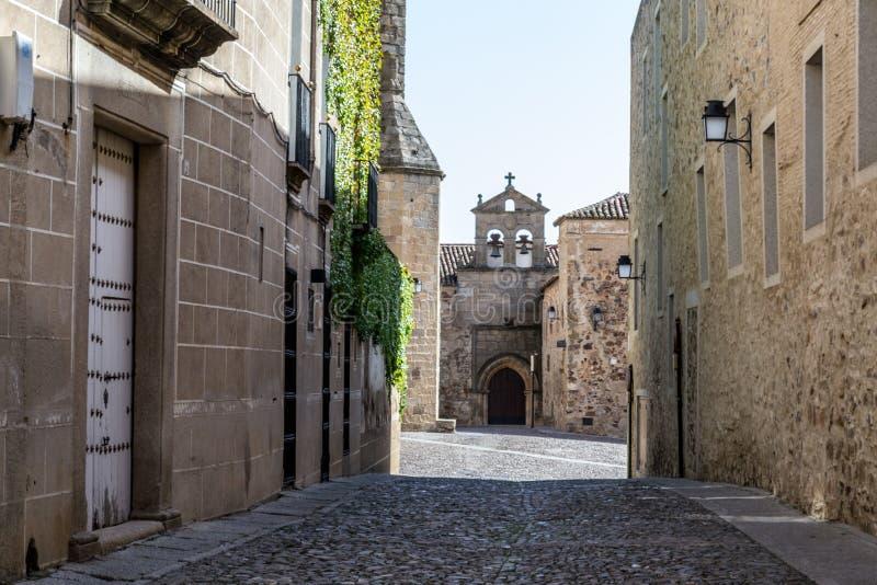 Convento da freira de Clausura em Caceres (Espanha foto de stock