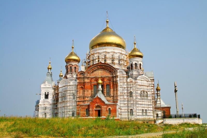 Convento de Belogorsky no Perm Krai, Rússia imagem de stock royalty free
