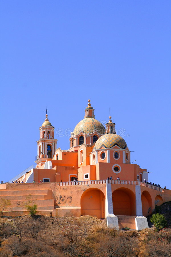 Convento de Cholula fotografía de archivo
