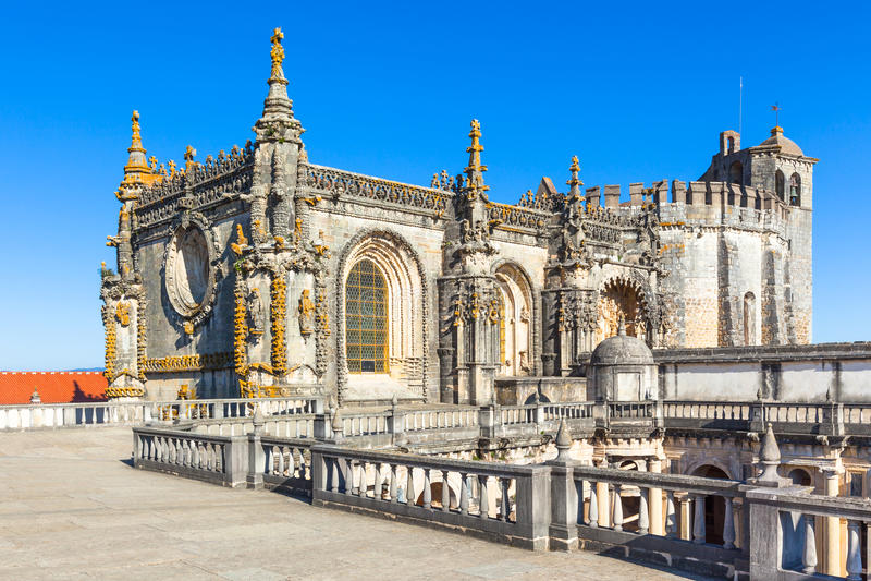 Convento de Christo Detail, Tomar, Portugal photo stock