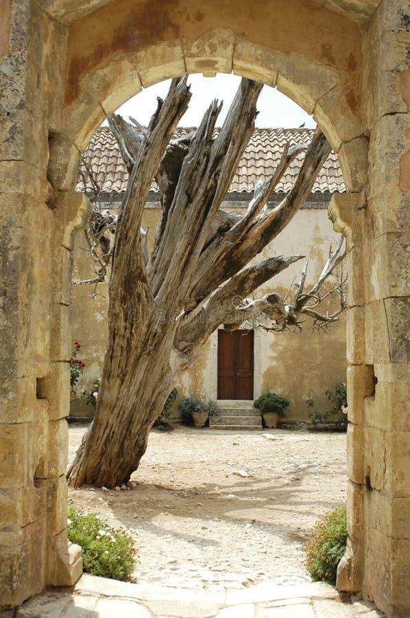 Download Convento de Crete Arkadi foto de archivo. Imagen de viejo - 1297314