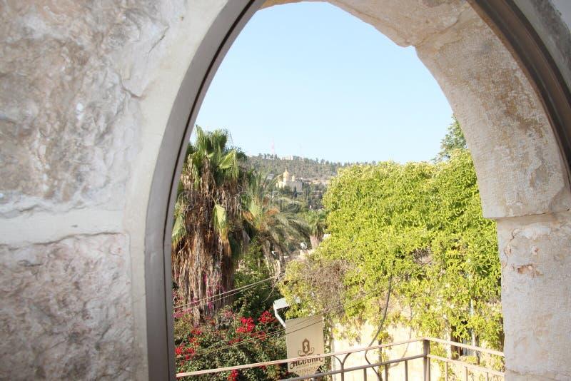 Convento de Gornensky no Jerusalém Ein Karem fotos de stock royalty free