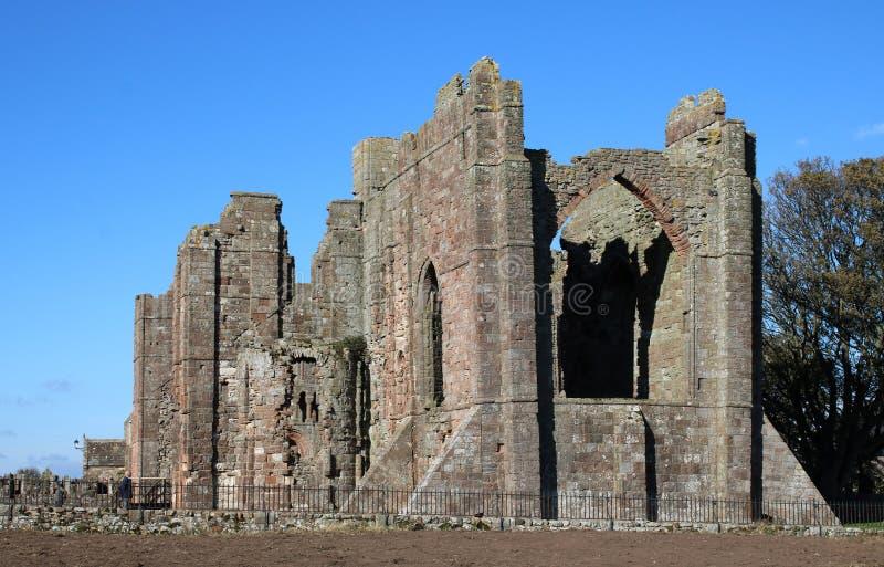 Convento de Lindisfarne, ilha santamente, Northumberland imagem de stock