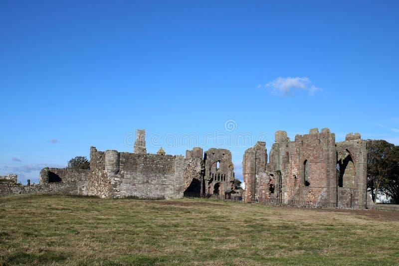 Convento de Lindisfarne, ilha santamente, Northumberland foto de stock