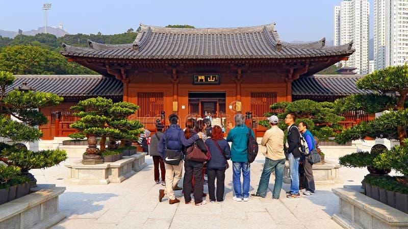 Convento de monjas budista de lin de la ji en Hong-Kong imagen de archivo
