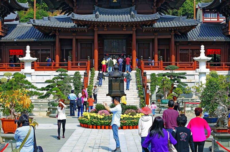 Convento de monjas budista de lin de la ji en Hong-Kong imágenes de archivo libres de regalías