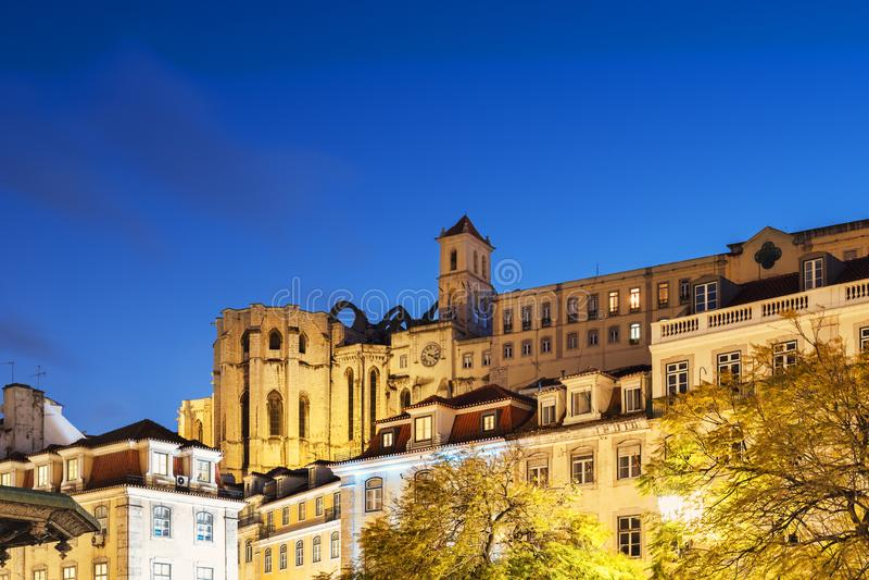 Convento de nossa senhora de Monte Carmelo no crepúsculo fotografia de stock royalty free