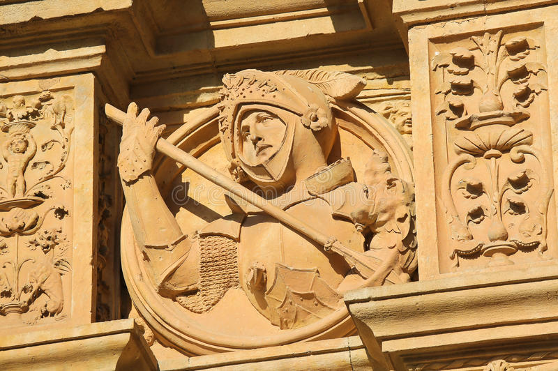 Convento de San Esteban a Salamanca - cavaliere medievale immagini stock libere da diritti