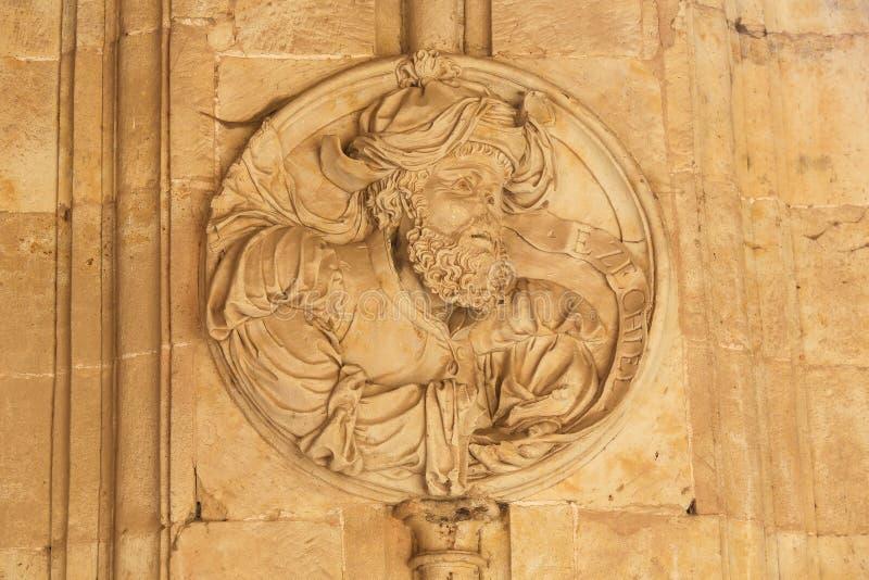 Convento de San Esteban a Salamanca - Ezekiel fotografia stock libera da diritti