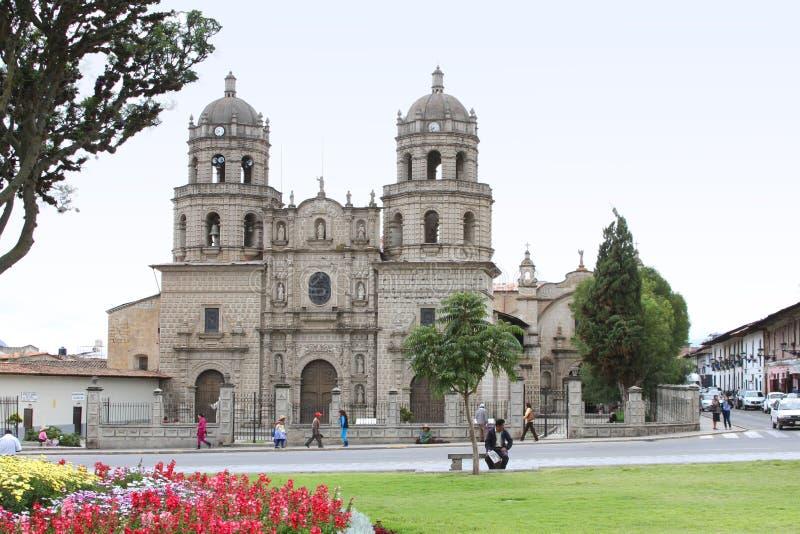 Convento DE San Francisco, Cajamarca, Peru stock afbeelding