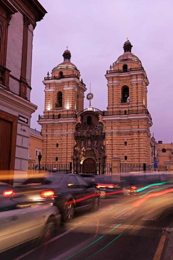 Convento De San Francisco - Lima photos libres de droits
