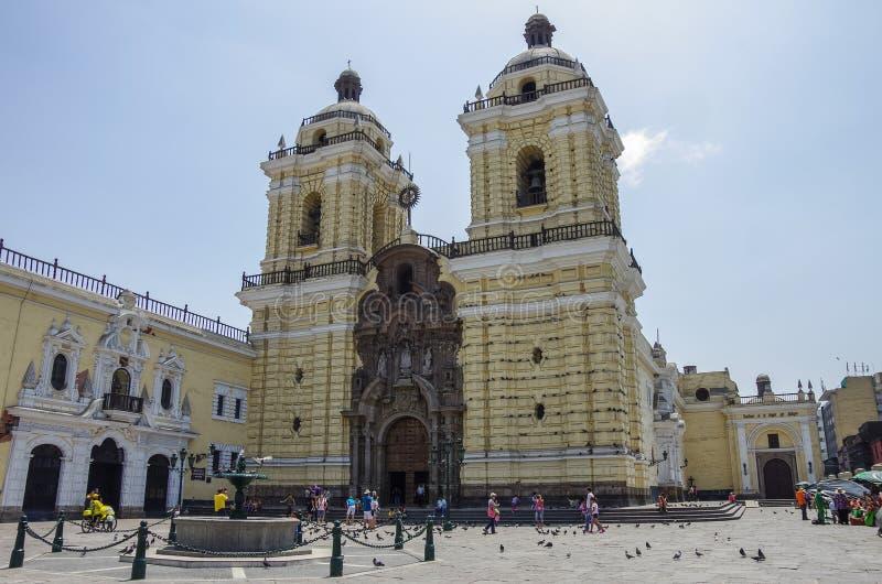 Convento de San Francisco o san Francis Monastery, Lima fotografia stock