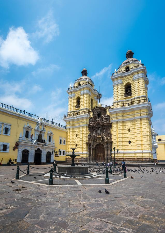 Convento de San Francisco ou Saint Francis Monastery, Lima, Peru imagens de stock