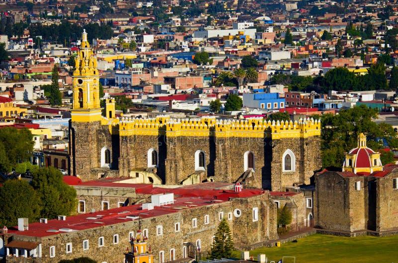 Convento de San Gabriel em Cholula, México imagem de stock