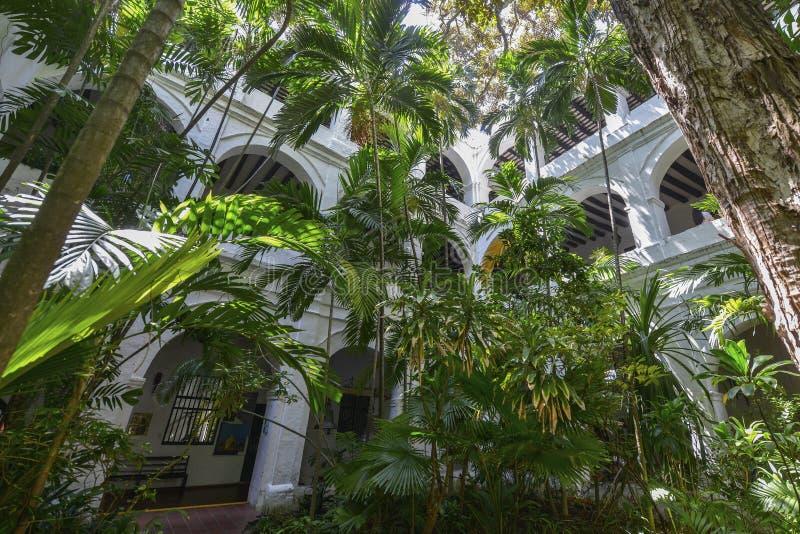 Convento de San Pedro Claver em Cartagena, Colômbia foto de stock