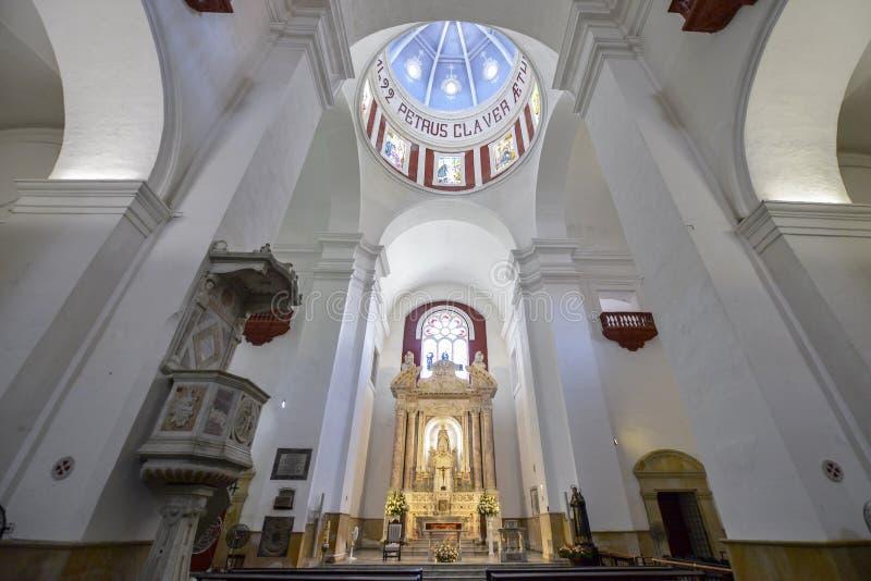 Convento de San Pedro Claver em Cartagena, Colômbia imagem de stock royalty free