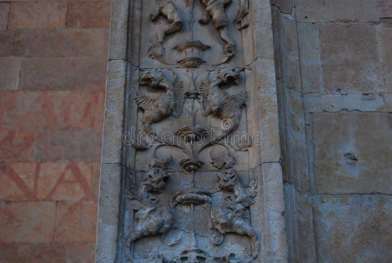 Convento del dettaglio principale della facciata di San Esteban fotografia stock