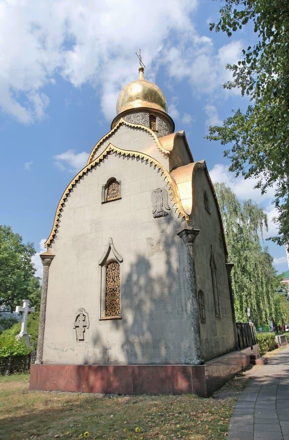 Convento di Novodevichiy, Mosca La tomba Prokhorovs fotografia stock