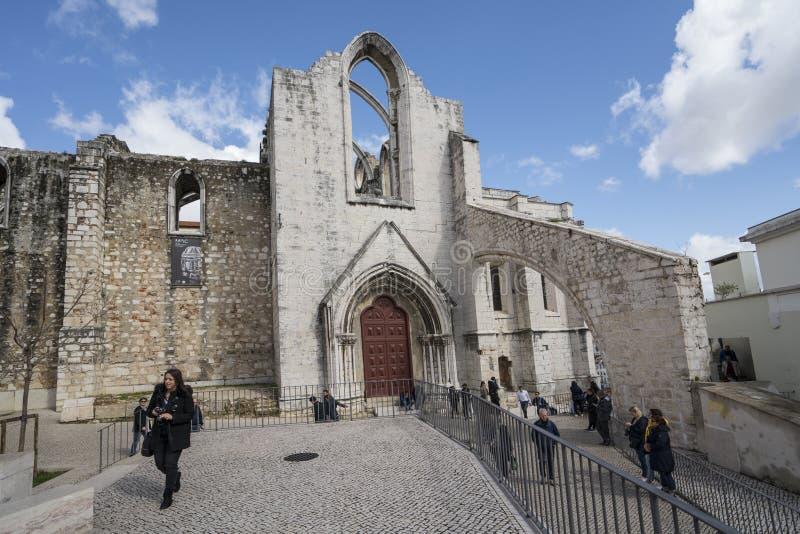 Convento gör Carmo i Lissabon arkivfoto