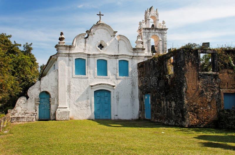 Convento Itanhaem di Nossa Senhora da Coneicao fotografia stock