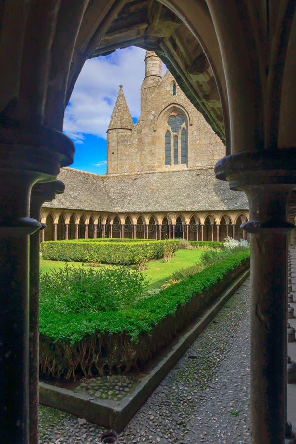 Convento in Le Mont-San-Michel fotografia stock