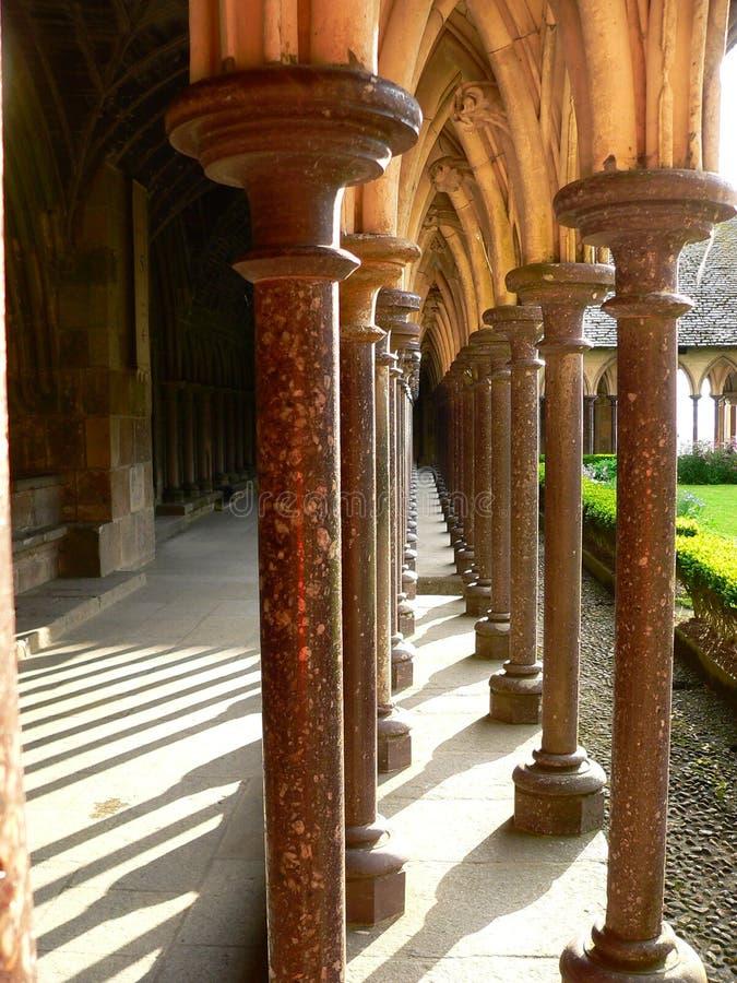 Convento, Mont-San-Michel (Francia) immagine stock libera da diritti