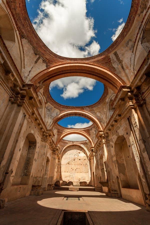Convento Santa Clara Ruins antigua guatemala stock afbeeldingen