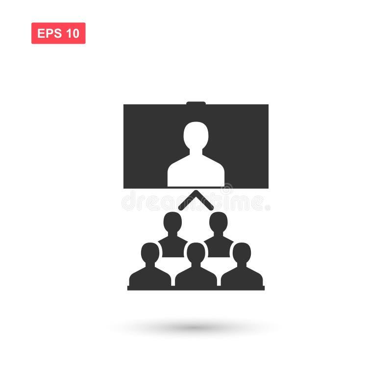 Converence con el vector de la audiencia aislado ilustración del vector