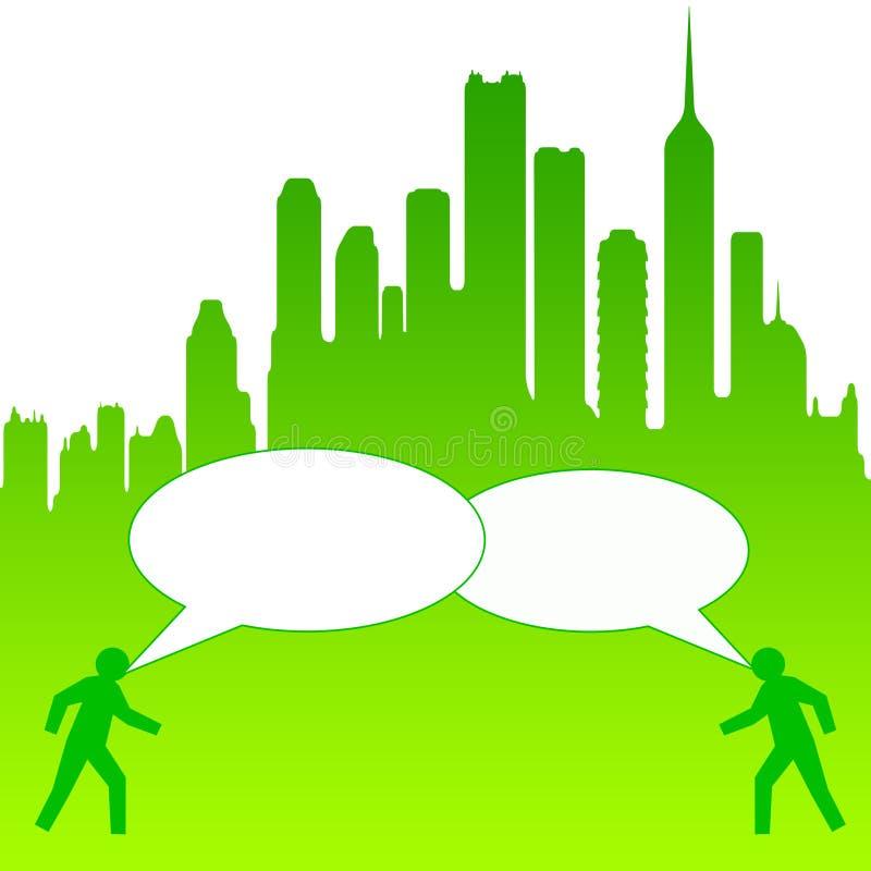 Conversação da cidade ilustração royalty free