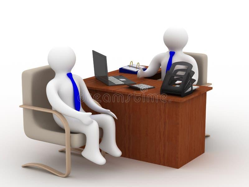 Conversação de dois homens de negócios. ilustração stock