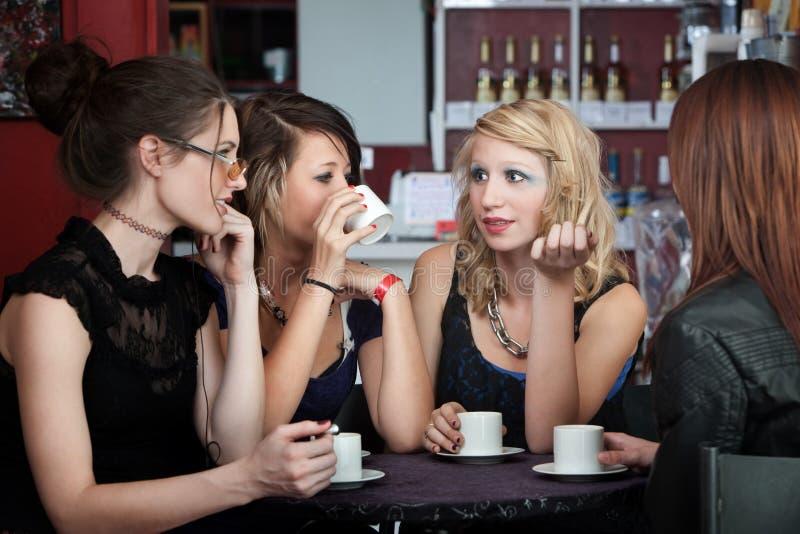Conversação do café fotografia de stock