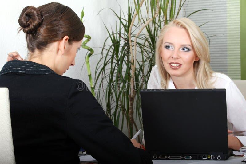 Conversação do negócio imagem de stock
