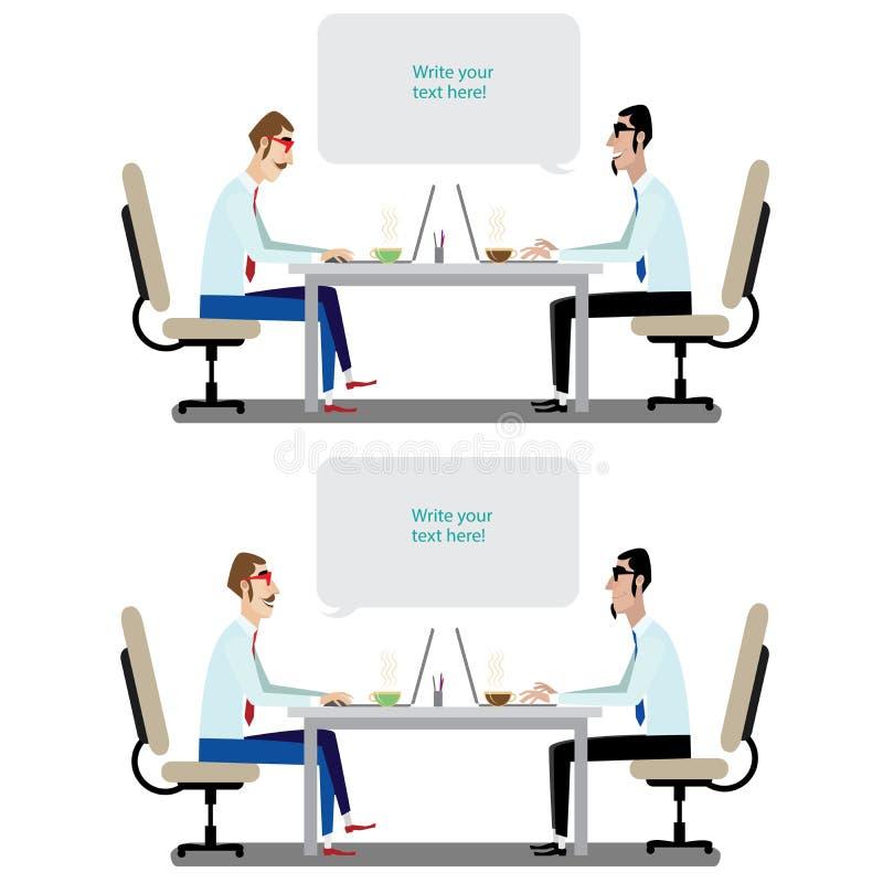 Conversação do negócio ilustração stock