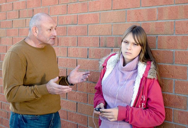 Conversação Do Pai Com Criança. Foto de Stock
