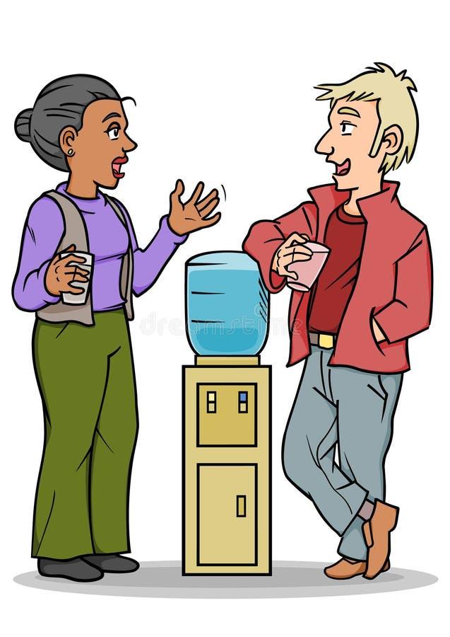Conversação do refrigerador de água ilustração do vetor