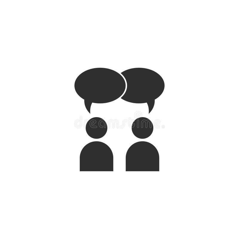 A conversação do vetor ou o bate-papo do ícone dos povos isolaram 2 ilustração stock