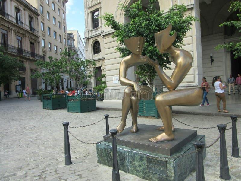 Conversação em Havana fotos de stock