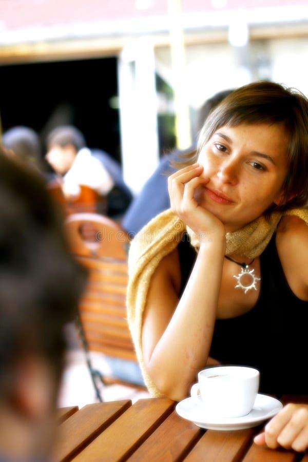 Conversação no café imagem de stock