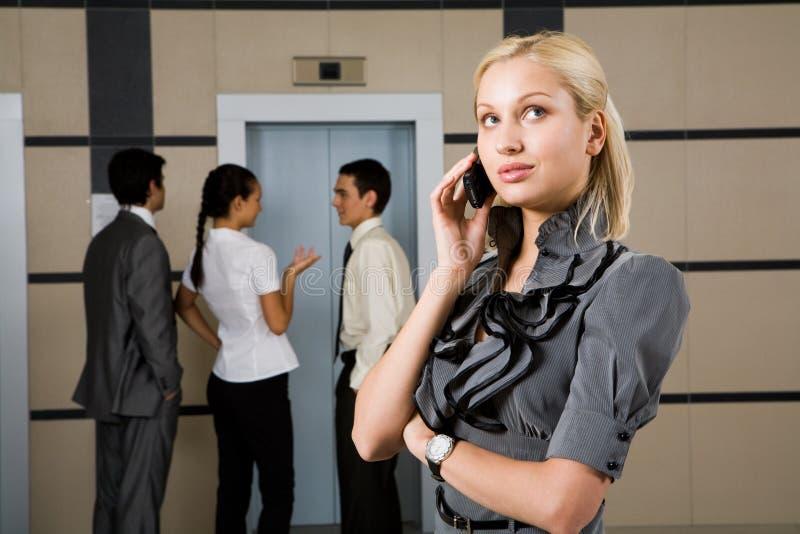 Conversação telefónica imagem de stock