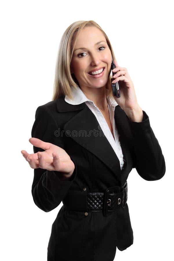 Conversação telefónica da mulher de negócios imagens de stock royalty free